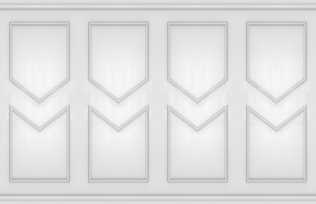 Modern vintage classical style molding shape wall design background.