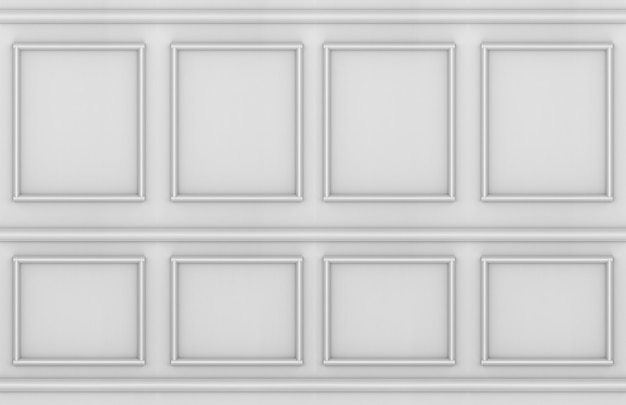 Modern vintage classical style molding square shape wall design background.