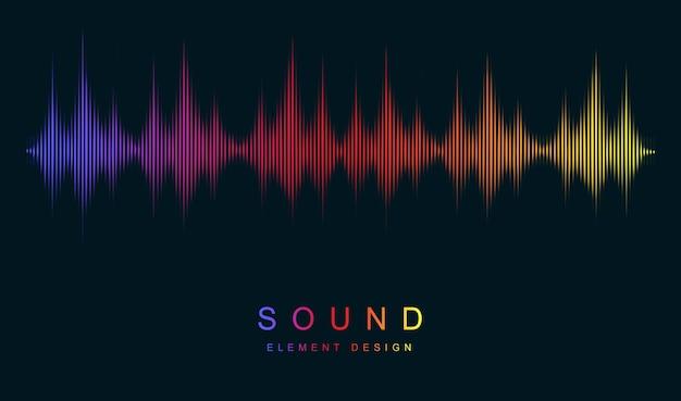 Современная визуализация и футуристический элемент концепция музыки и радио распознавание голоса и звука