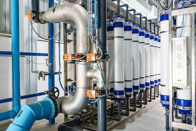 Современная система фильтрации и очистки воды для промышленного завода