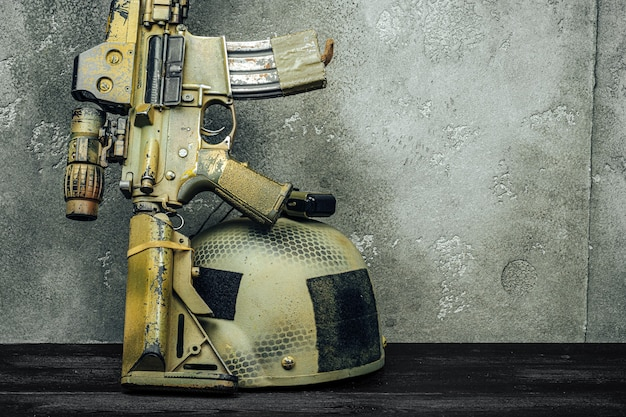 Modern weapon series. us army assault rifle.