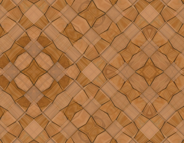 Modern weaving wood square grid tiles wall background