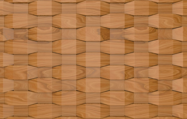 Modern weaving wood square panel tiles wall background