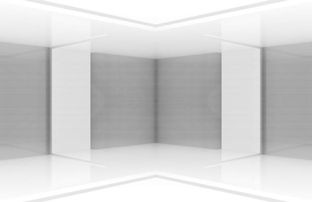 Modern white board stage background.