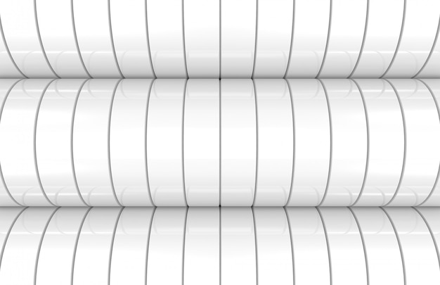 Modern white cylinder curve wall background