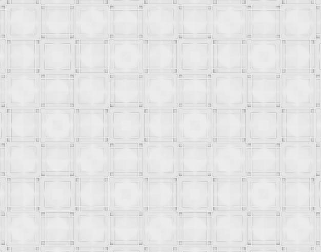 Modern white light tone grid square art pattern wall