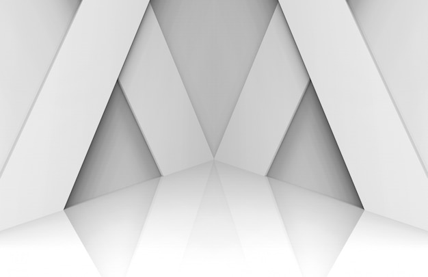 Modern white panel stage background