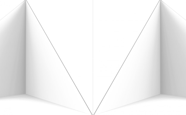 Modern white triangle polygon plate wall background.