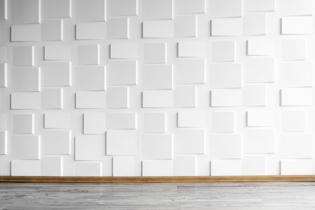 Modern white wall with wooden floor with window light. abstract background from concrete w