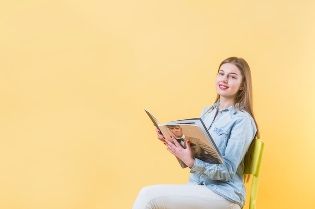 Modern woman and copyspace