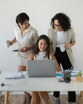 Modern women working together