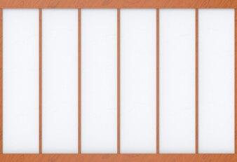 Modern wood frame on white paper wall backgorund.
