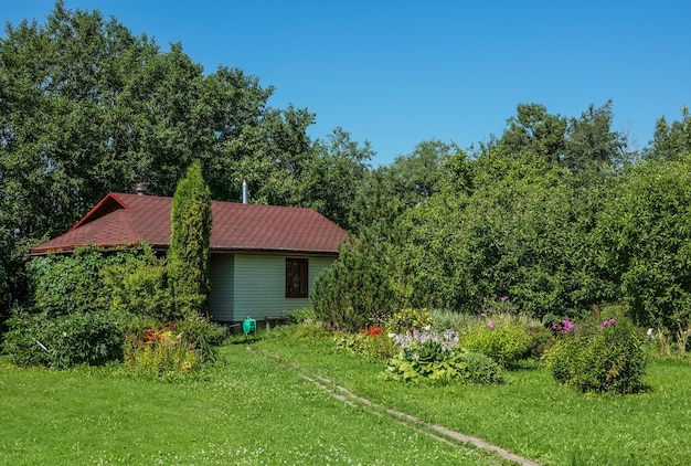 Modern wooden vacation homes in the russia