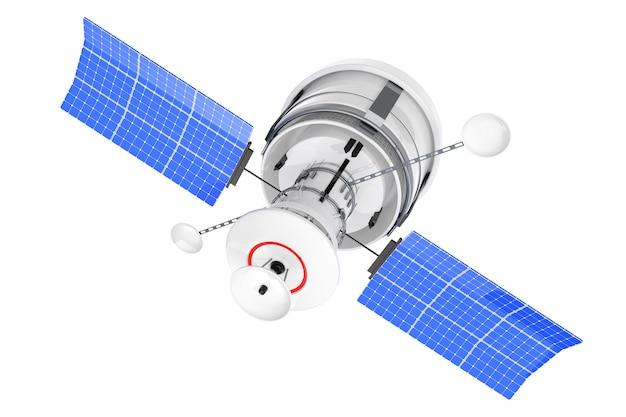 Спутник навигации современного мира глобальный на белой предпосылке. 3d рендеринг