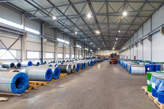 대기로의 유해한 배출없이 금속 생산을위한 현대화 된 공장, 자연을 배려