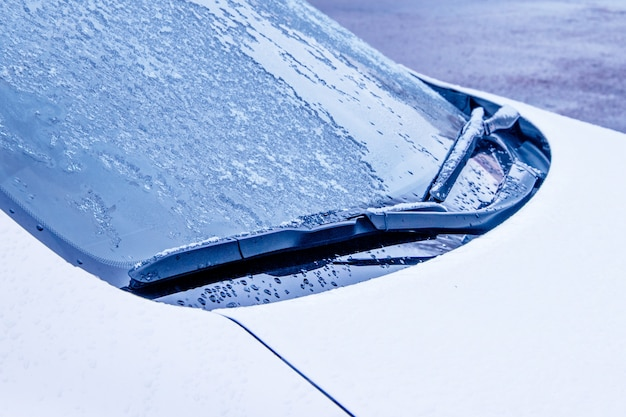 Modest windshield wipers close-up