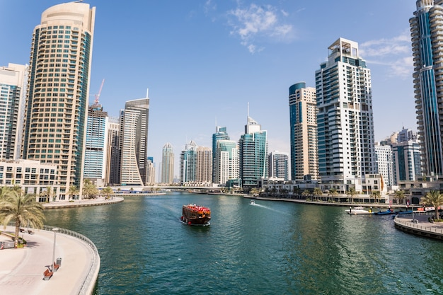 Modetn city of the luxury centre of dubai, united arab emirates