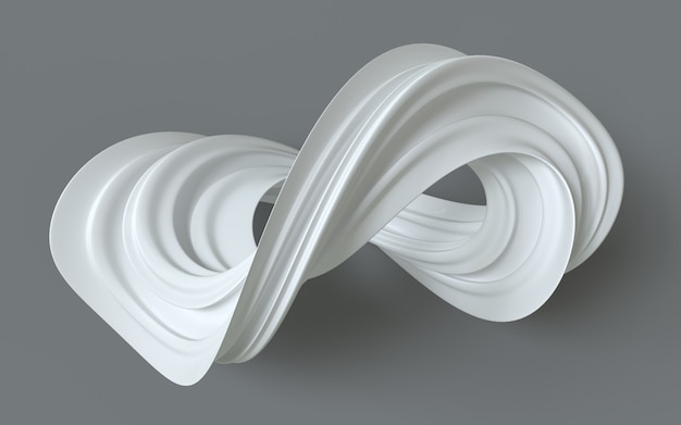 Moebius strip or moebius ring surface with only one side and one boundary