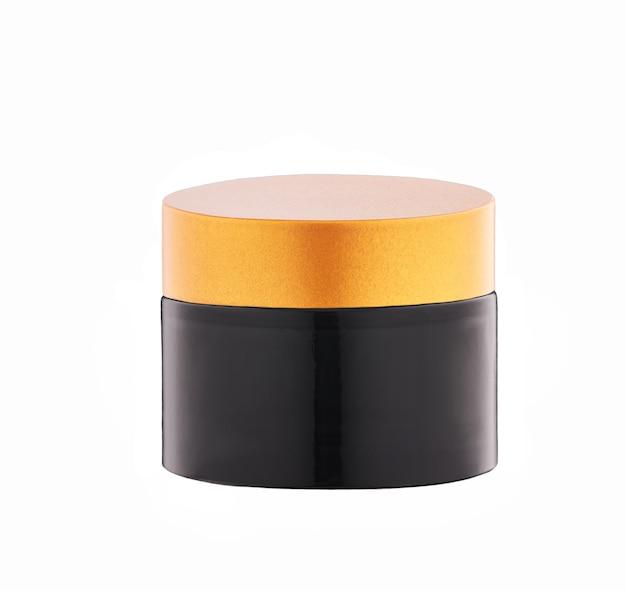 Увлажняющий и питательный косметический продукт премиум-класса. бутылка ночного крема, изолированные на белом фоне.