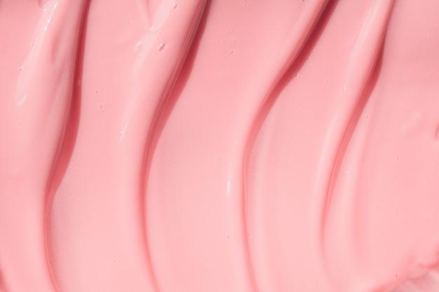 Увлажняющий крем-бальзам для красоты, образец розовой краски, текстура йогурта, персик, крем, увлажняющий шампунь