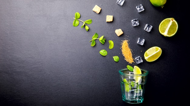 Mojito cocktail. summer drink for parties.