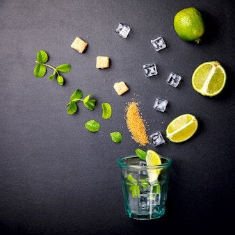 Mojito cocktail.summer party drink.