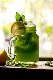 Mojito lemon mint side view