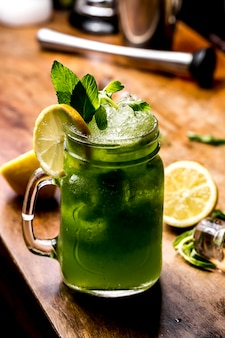 Мохито лимонная мята, вид сбоку