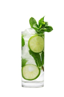 Mojito summer refreshing cocktail with ice and mint