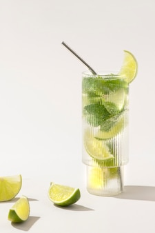 Mojito with fresh mint and lime