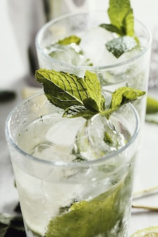 Mojito with ingredients