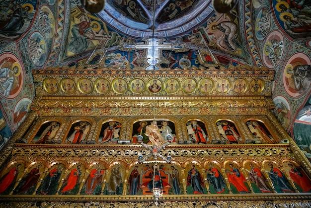 Moldovita, moldovia/romania - september 18 : interior view of the monastery in moldovita in moldovia romania on september 18, 2018