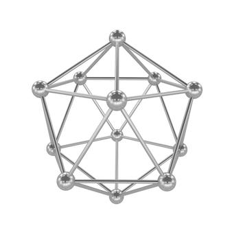분자, 분자 격자, 3d 렌더링