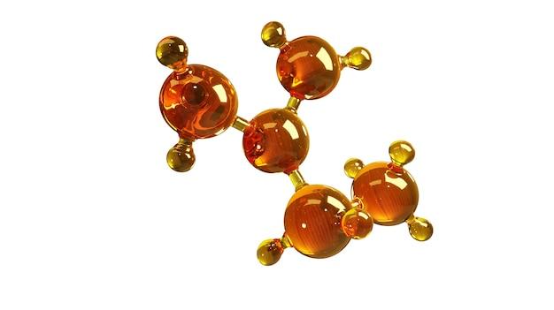 고립 된 기름의 분자