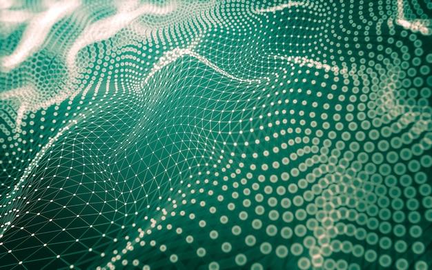 Технология молекул с многоугольными формами, соединяющими точки и линии.