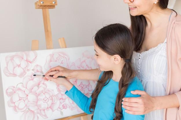 Lezione di mamma per dipingere