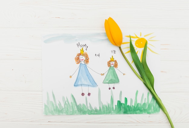 Mommy and me inscription with painting