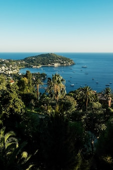 素晴らしいヨットと地中海のあるモナコ湾の景色