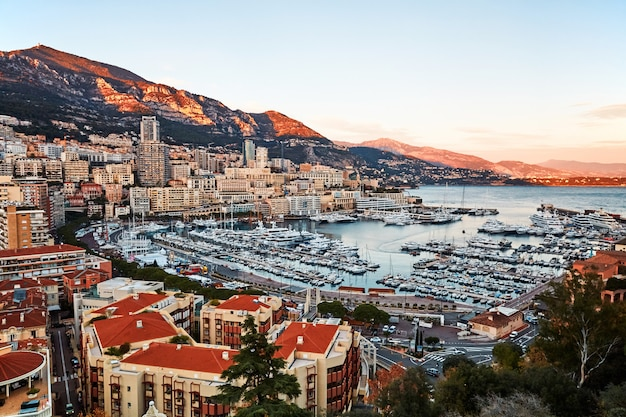 Monaco city and port