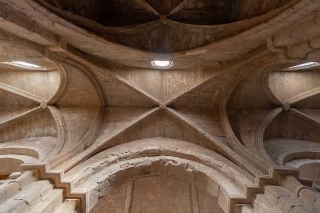 Monastery of poblet, in tarragona, catalonia spain