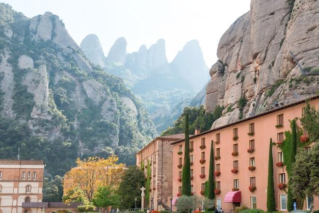 Monastery, santa maria de montserrat is a benedictine abbey located on the mountain near barcelona, catalonia, spain