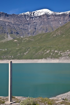Moncenisio dam, italy/france border. meter used to measure the level of water.