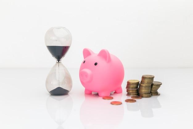 돈과 시간 개념. 시간에 투자하십시오.