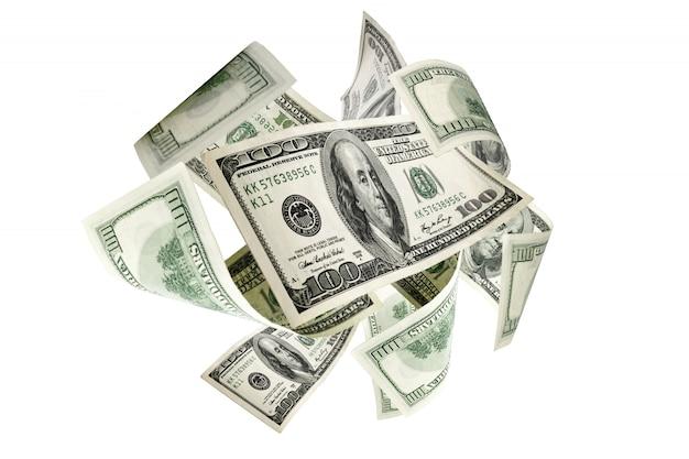 お金の背景。アメリカの百ドル。米ドル現金