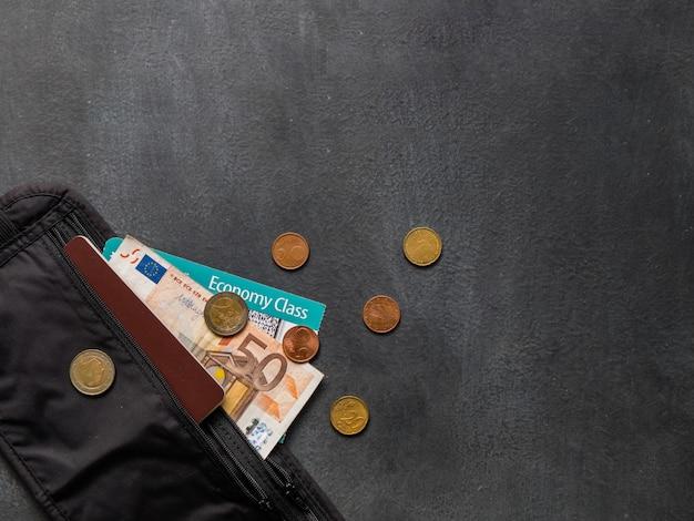 Money belt with passport
