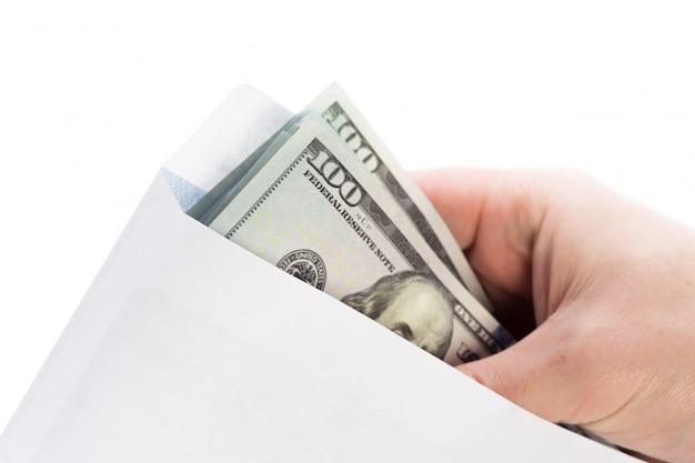 Money in an envelope, corruption.