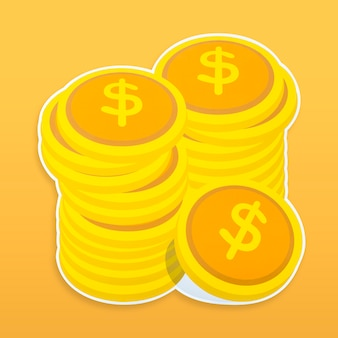 Money icon isolated