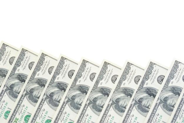 흰색 배경에 고립 된 돈