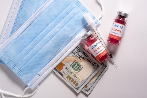 Деньги, потраченные на вакцину covid 19 и медицинские маски