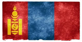 Mongolia grunge flag  document